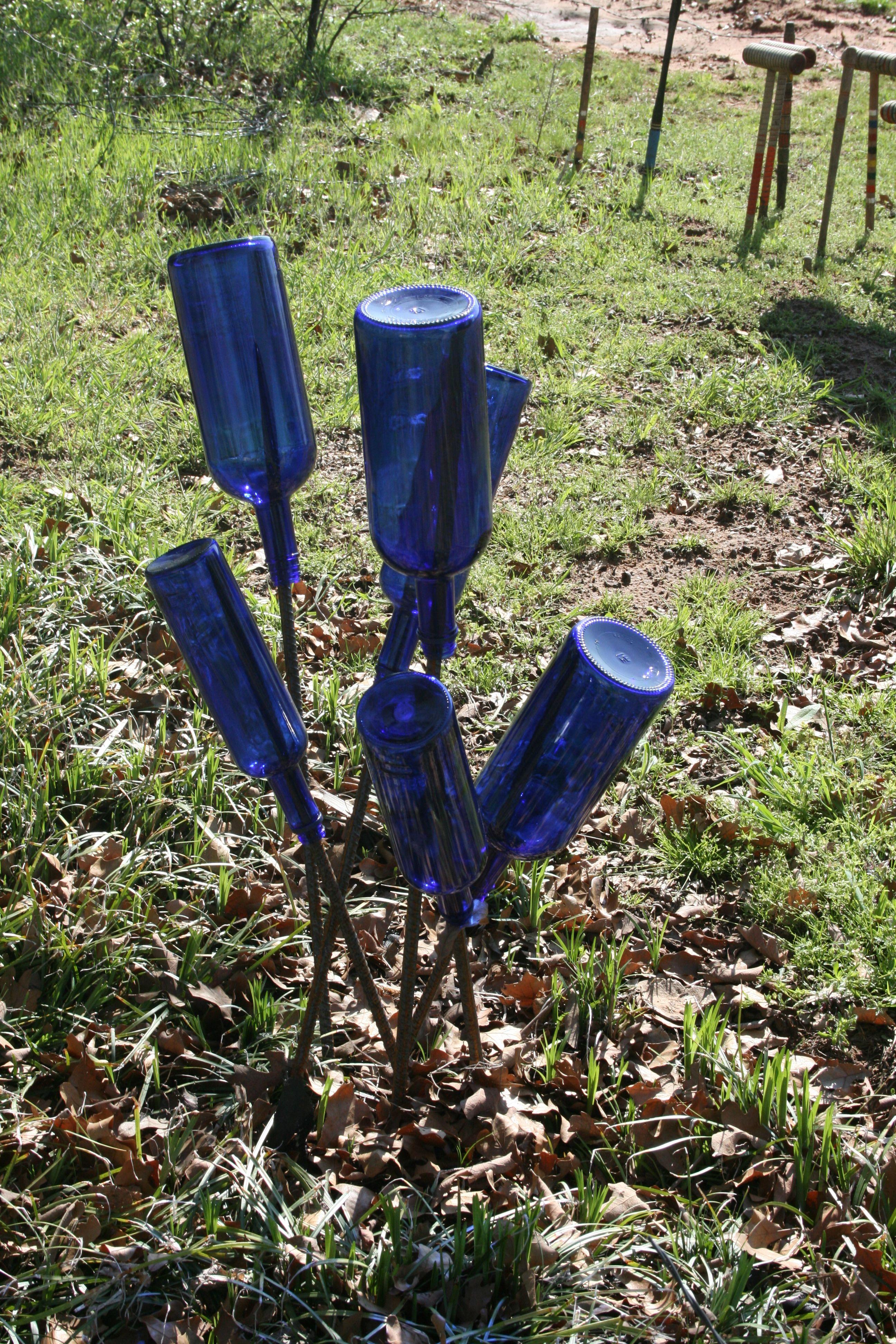 Blue bottle mini tree | bottle trees | Pinterest | Bottle, Bottle ...