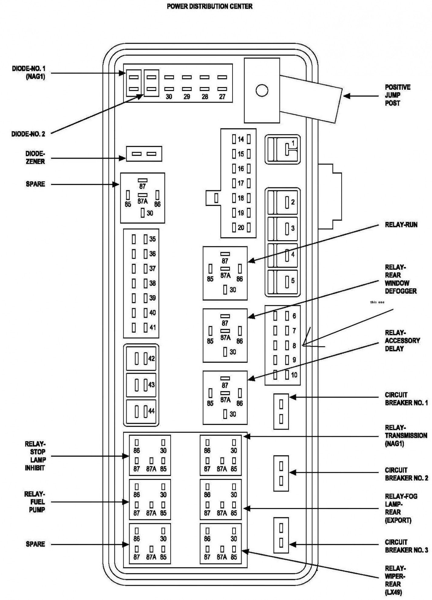 Dodge Caravan Fuse Box Location
