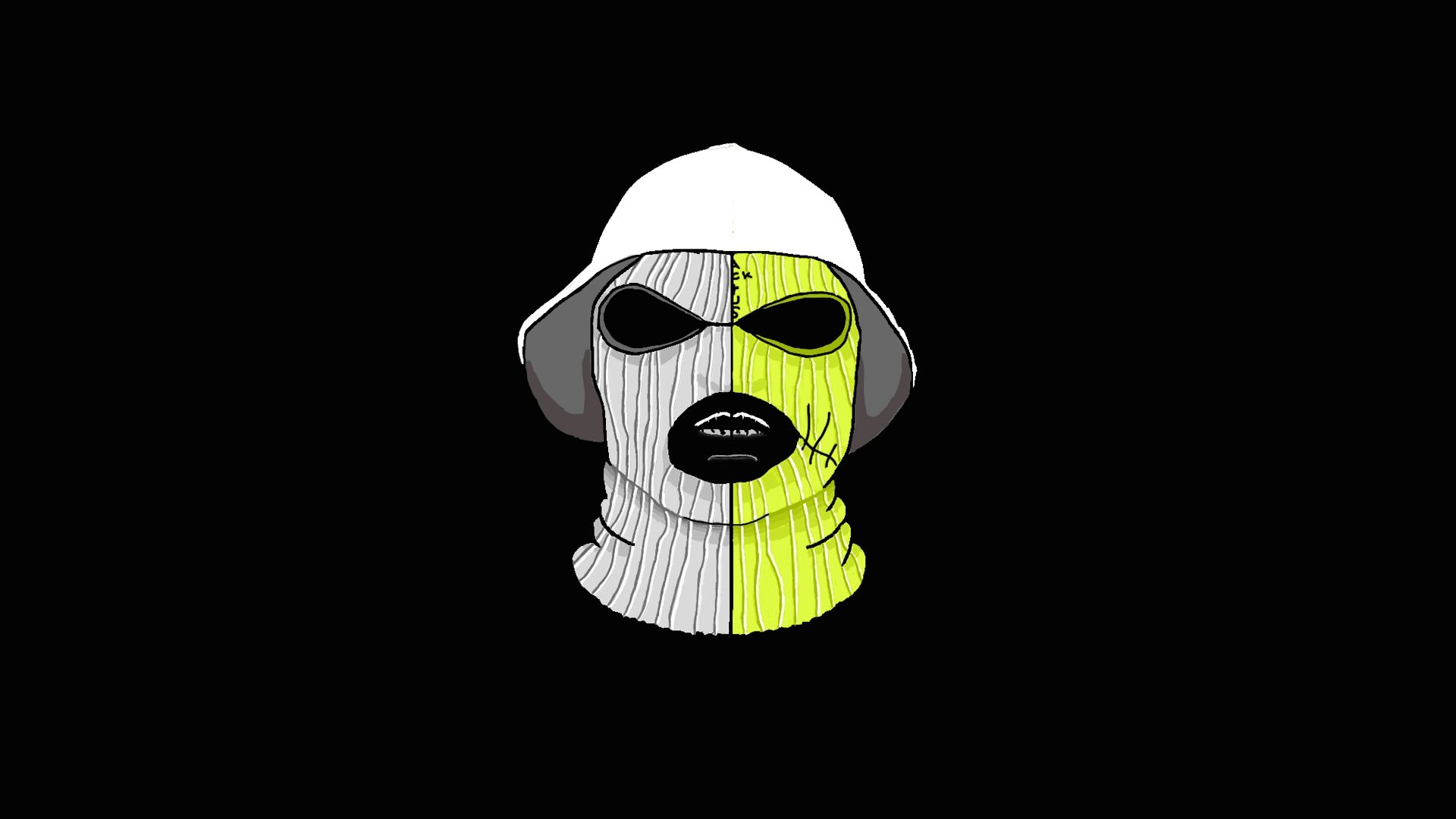 Working With A Producer I Took A Schoolboy Q Mask And A Jackboys One And Combined Them Instagram Doumarts In 2021 School Boy Schoolboy Q Hip Hop Art