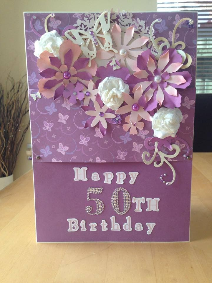 50th Birthday Card Sisters Crafts Pinterest Cards 50th
