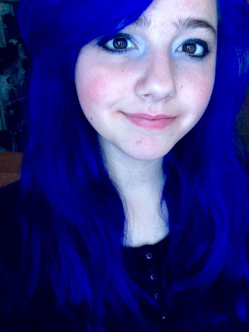 Splat First Day Blue Envy Youtube Sarah Noelle Miller Crazy Hair Splat Hair Color Hair Color