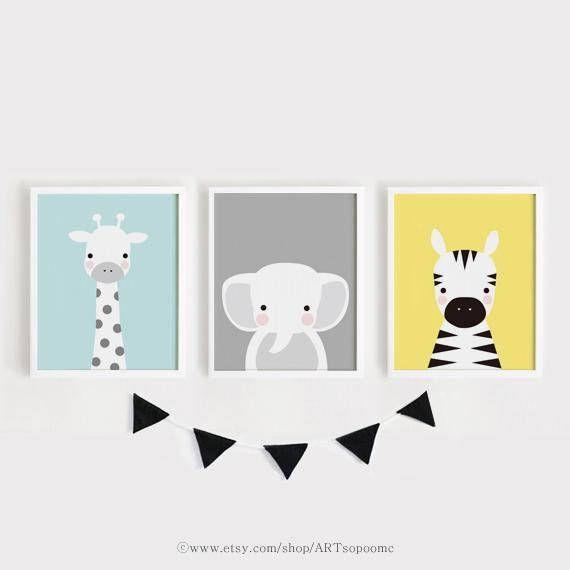 Baby Animalprints für Kinderzimmer druckbare Wand Art Set