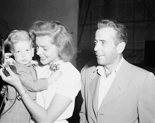 Bogie and Bacall with baby Stephen. AWW!