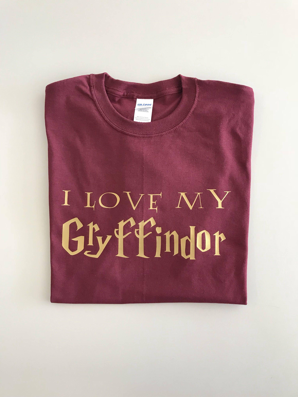 057ae0571666 Harry Potter, I Love My Gryffindor Shirt / Harry Potter Couple / Couple  Shirts / Universal Studios / Wizarding World / Gryffindor / Hogwarts by ...