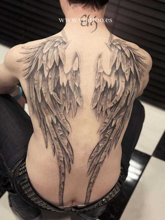 good and evil angel wings tattoos 32 tatoos pinterest tattoo tatoo and trash polka. Black Bedroom Furniture Sets. Home Design Ideas