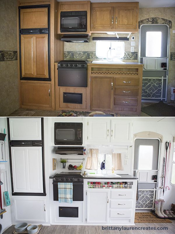 Kitchen Before And After In Camper Rv Living Pinterest