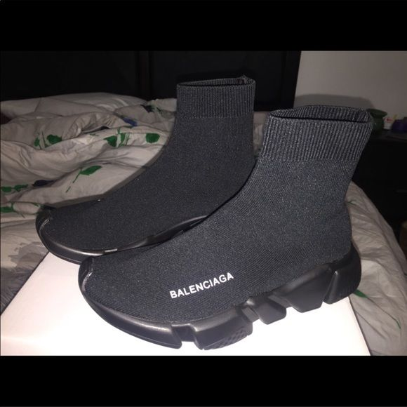 Brand New in Box Balenciaga Speed Trainer High Top Burgundy most sizes