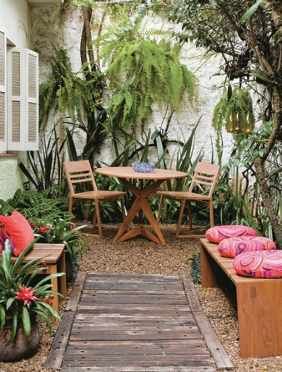 Pequenos Jardins Terrazas Jardin Y Patios - Patios-jardines-pequeos