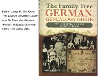 """""""German Genealogy Guide"""" by James M. Beidler"""