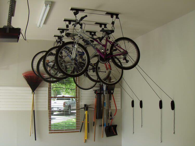 13 Creative Overhead Garage Storage Ideas You Should Know 11 Bicycle Garage Bike Storage Garage Bicycle Storage