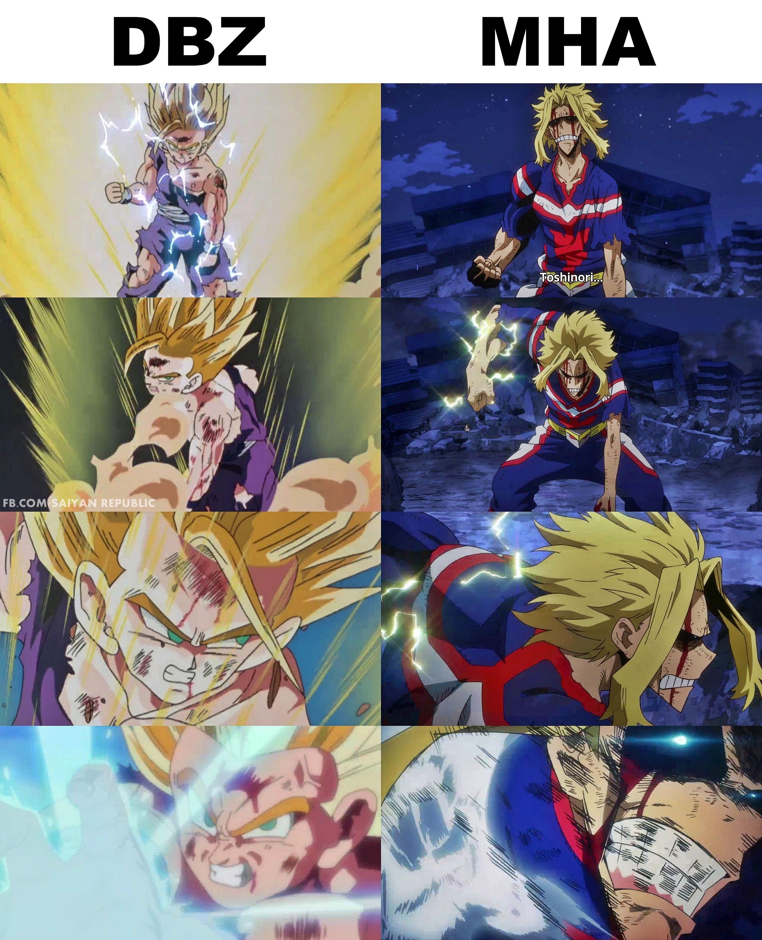 DBZ Reference in My Hero Academia | Anime, Anime dragon ...