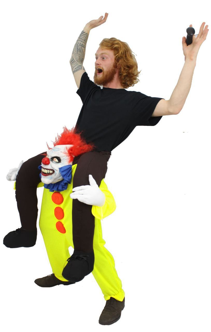 Carry Me Fancy Dress - Adults Pennywise IT Clown Piggyback ...