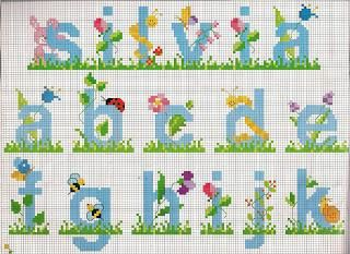 schemi alfabeti a punto croce per bambini stitch