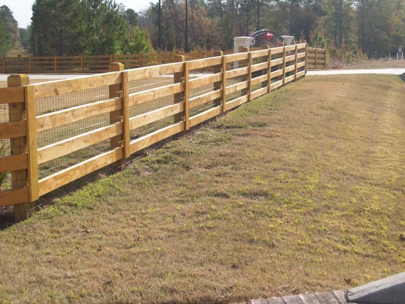 Ranch Style Wood Fence Designs Jc Hood Ornamental Iron Llc