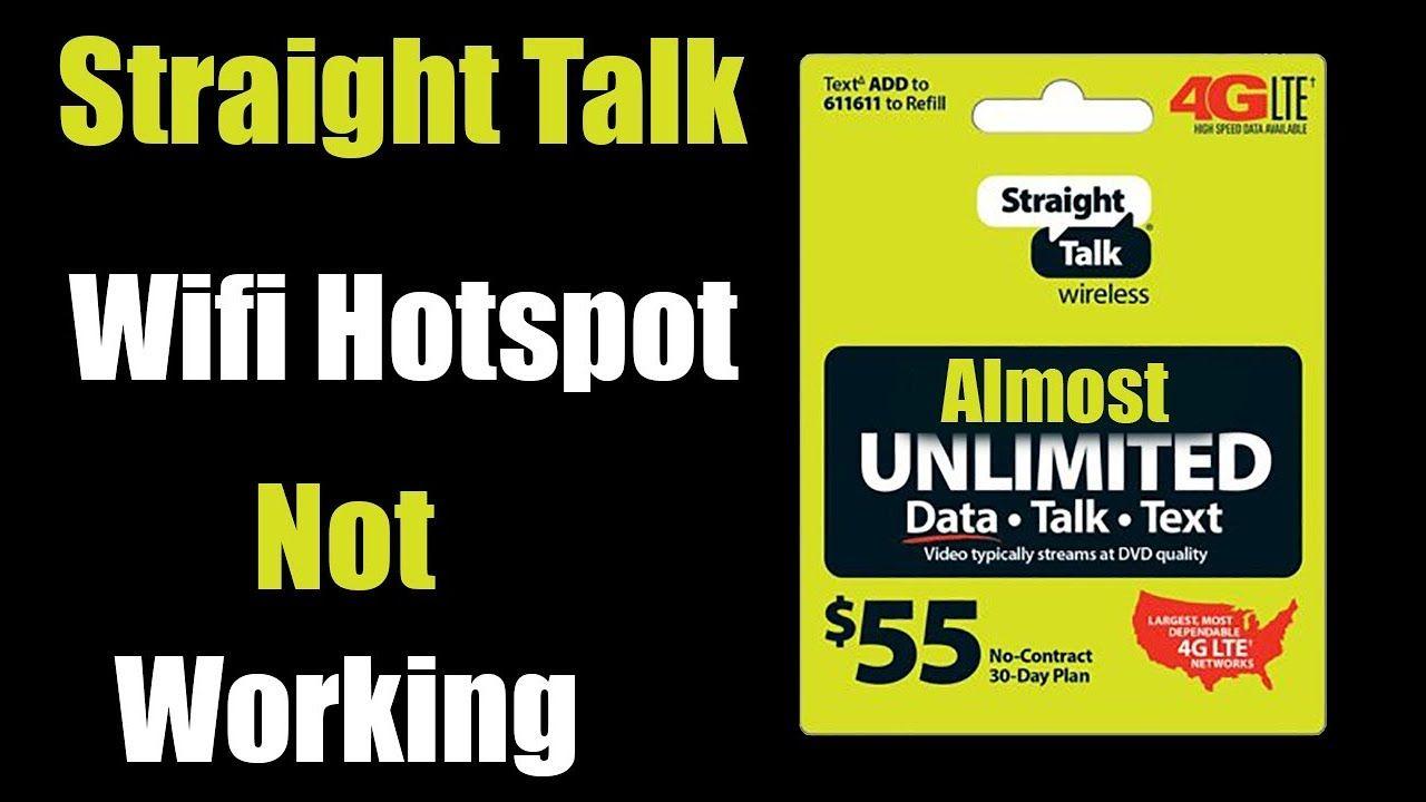 Straight Talk Wifi Hotspot Not Working 2019 Internet Sharing Hotspot Wifi Straight Talk Phones Hot Spot
