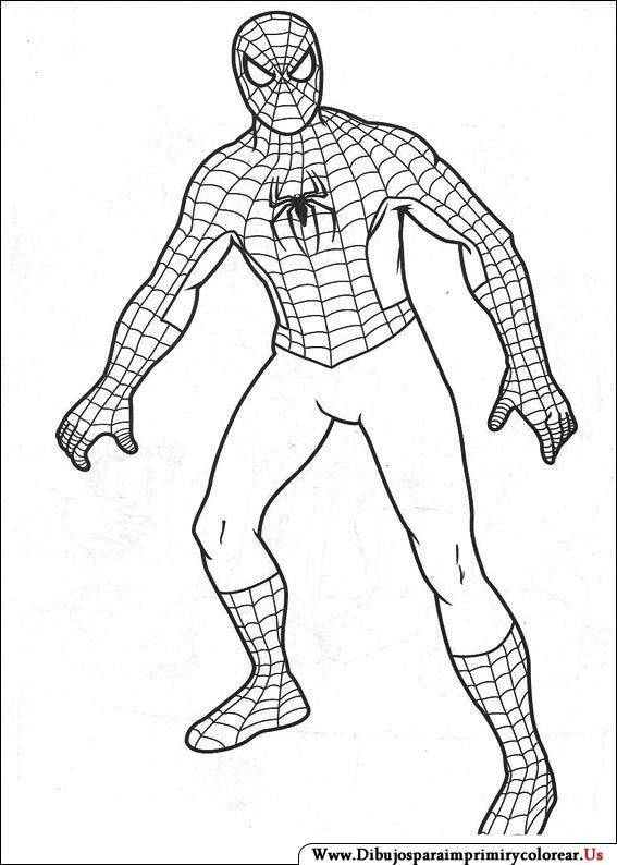 Dibujos de Spiderman para Imprimir y Colorear  Spiderman