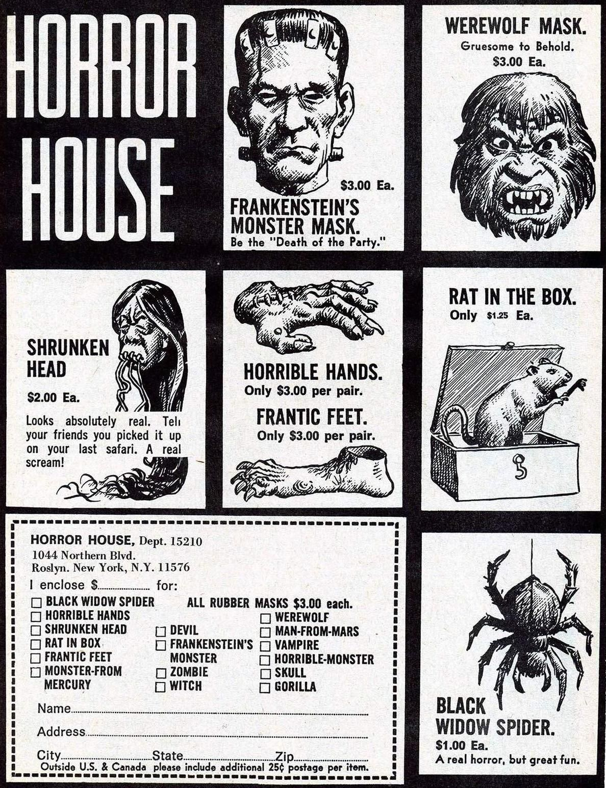1960s Horror House ad.