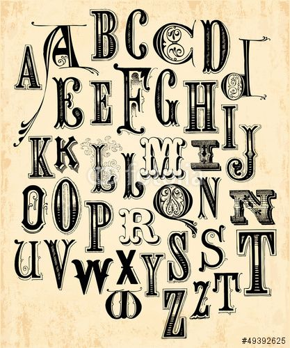 Vecteur  Vintage Alphabet