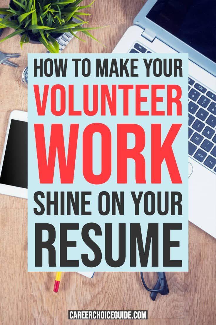 How do you list volunteer work on a resume volunteer