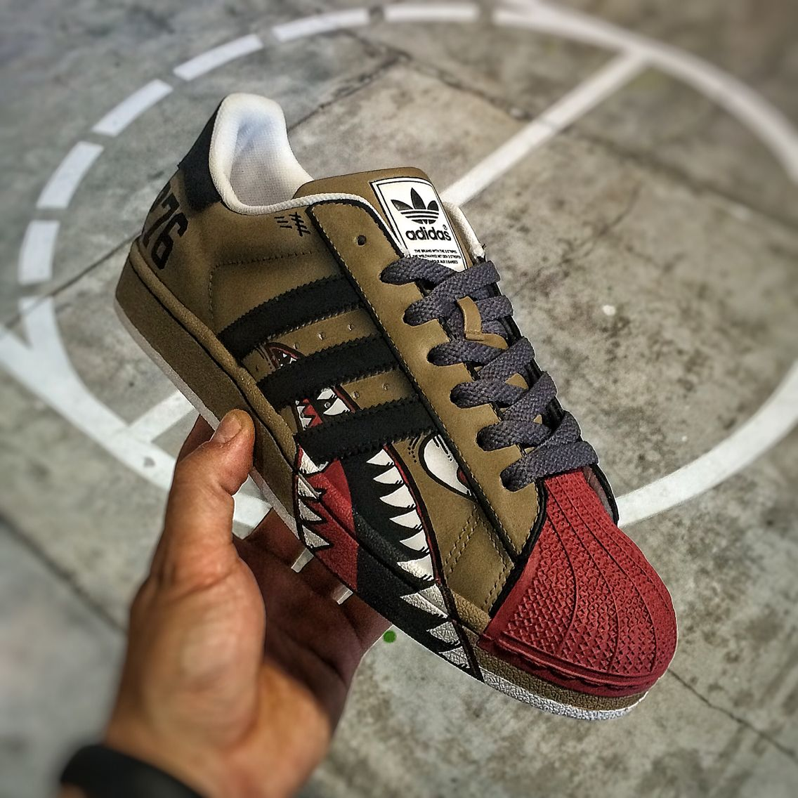 ed2e7e9da09 Custom Adidas Superstar II WarBird Dee || Follow FILET. for more street  wear #