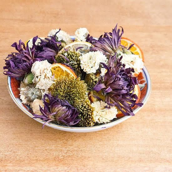 how to make popuri with flowers