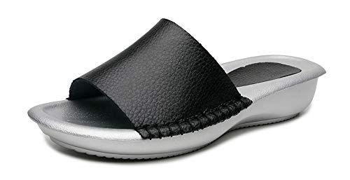 Mules Cuir Mode Sandales Bout Ouvert Plates Femme Yooeen En Été dCeWrxoBEQ