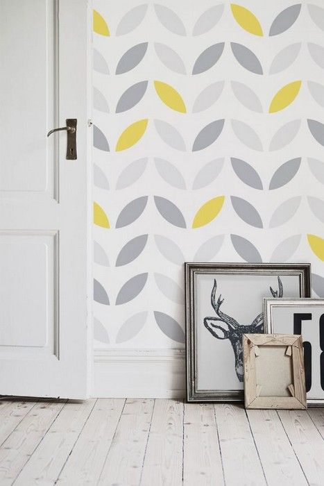 Neat Interior Designs With Grey Wallpaper 28 Photos Wallpaper In