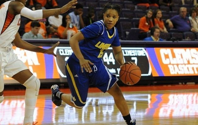 Limestone Women S Basketball Drops Battle For First Place Junior Forward Celestra Warren Chicago Ill Paced The Saints With Womens Basketball Athlete Ncaa
