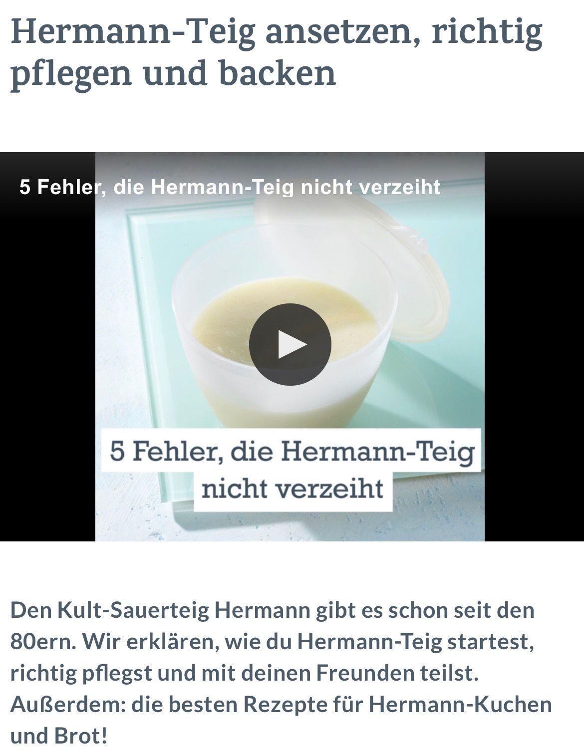 Hermann Teig Ansetzen Richtig Pflegen Und Backen Diafora Spitika
