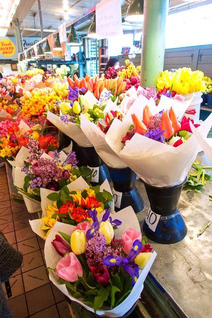Beautiful flowers at Pike Place Market Seattle WA if I lived
