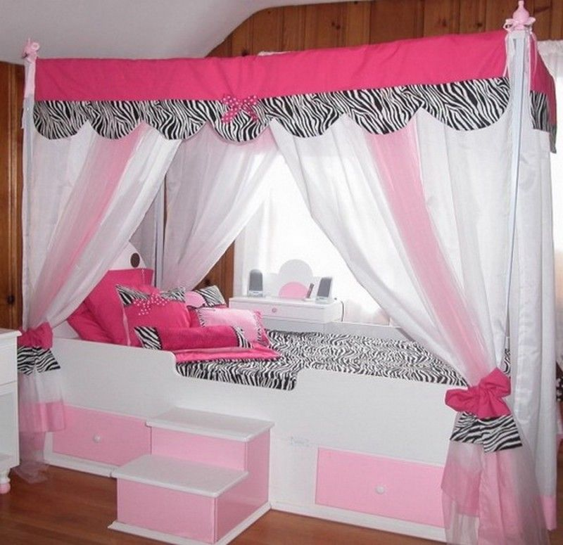 Bedroom Modern Canopy Bed For Teenage Girl With Drapes How To Build A Canopy Bed For Your Bedroom Girls Bed Canopy Bedroom Design Girl Beds