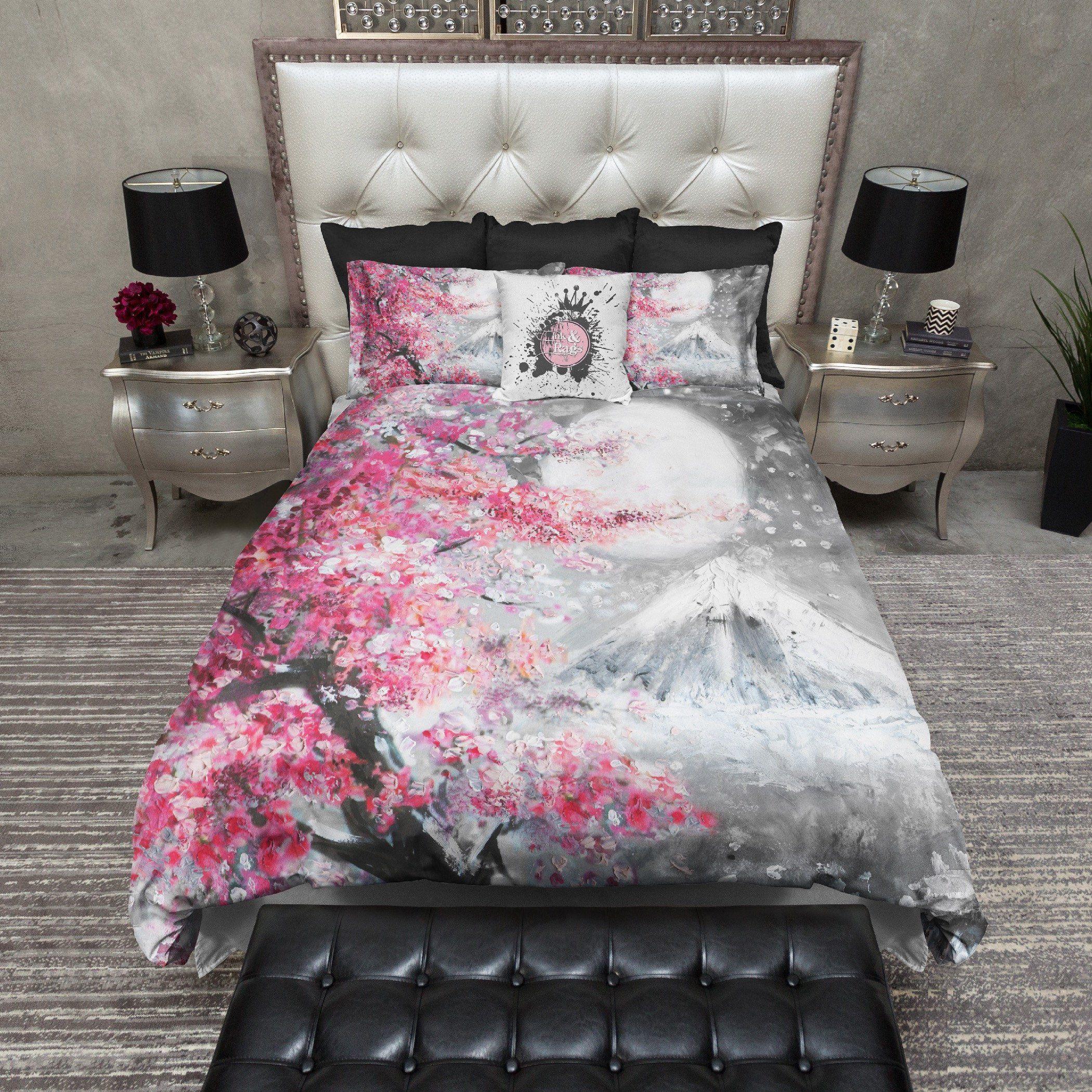 Red Cherry Blossom Bedding