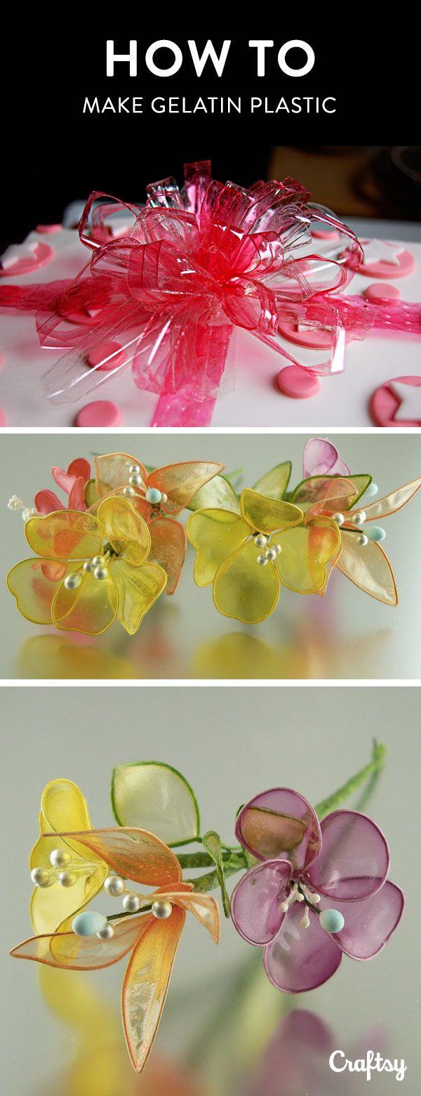 Creative Cake Decorations: How to Make Gelatin Plastic ...