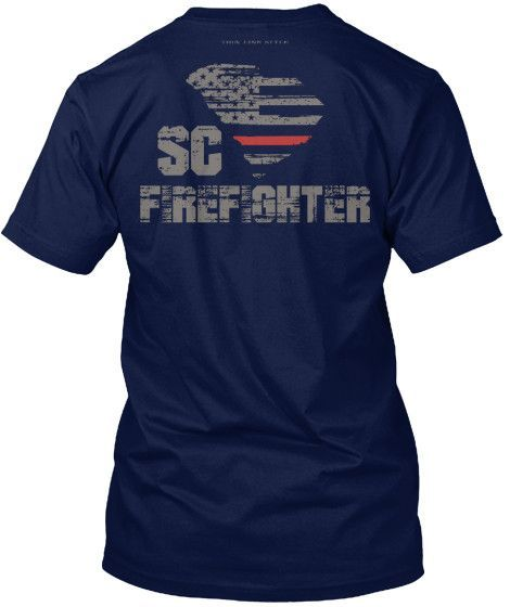 South Carolina Firefighter Thin Red Line T-Shirt