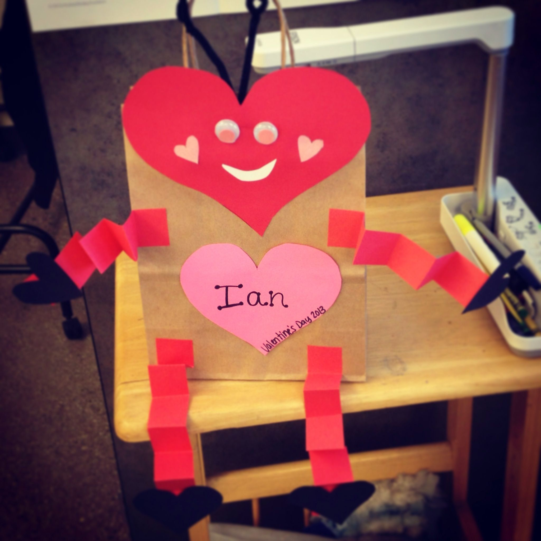 valentine holder love bug  kindergarten valentines
