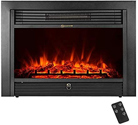 Amazoncom Ikayaa Electric Fireplace Insert 287 X 21 Embedded