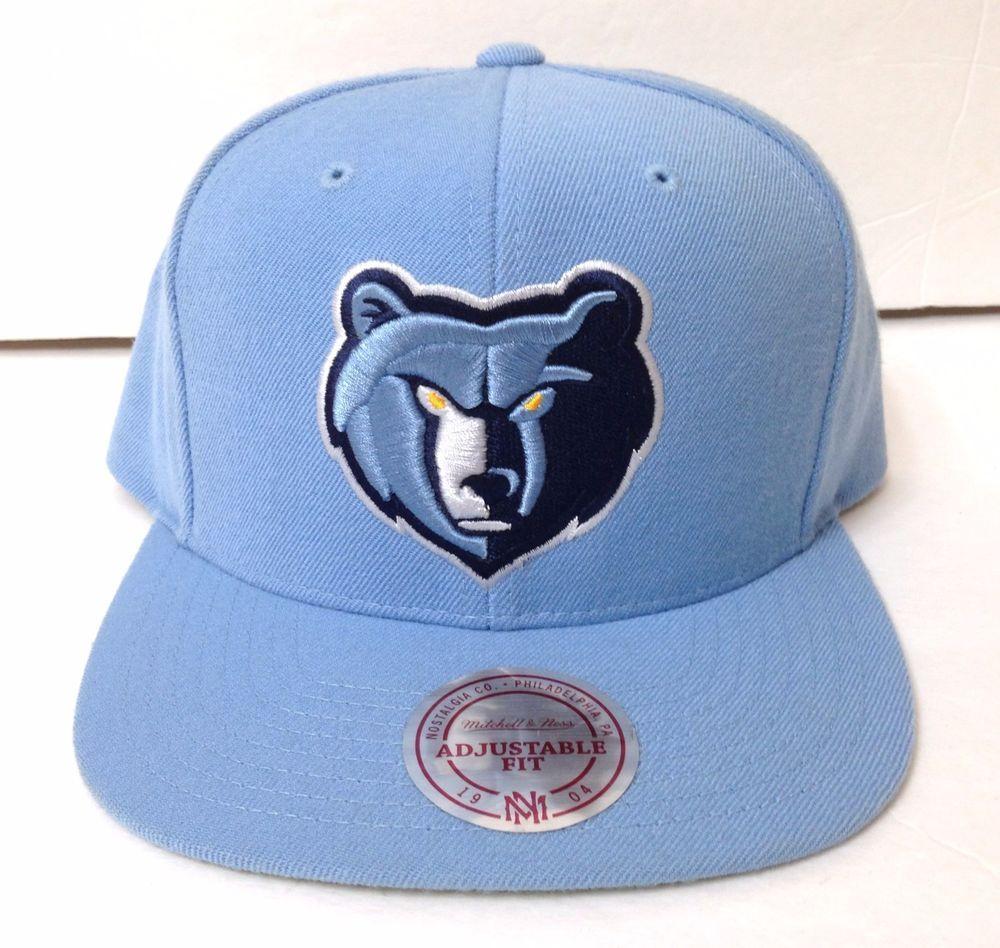 Memphis Grizzlies Snapback Hat Light Blue 100 Wool Mitchell And Ness Men Women Mitchellness Memphisgrizzlies Snapback Hats Nba Hats Mitchell Ness