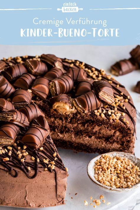 Kinder-Bueno-Torte   Die besten Backrezepte mit Gelinggarantie #foodsanddesserts