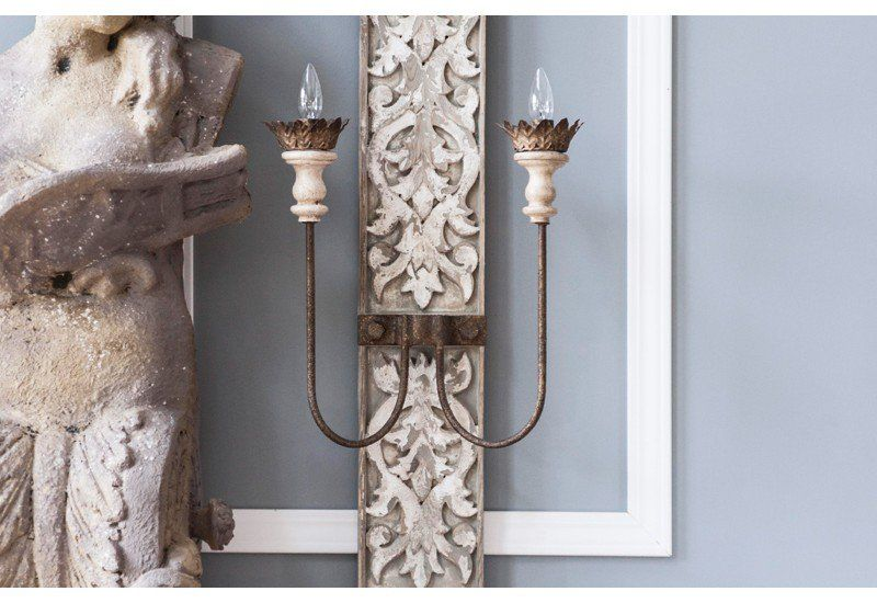 Distressed Wood Chandelier Chandeliers White Chandelier Decor Steals Rustic Candle Wall Sconces Wall Sconces Sconce Decor