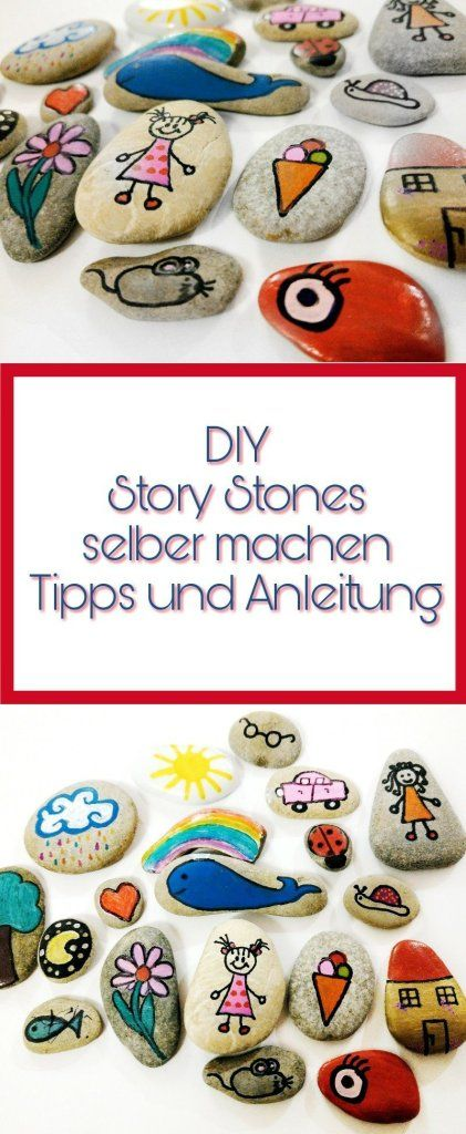 Story Stones - Erzählsteine selber machen mit Anleitung und Bildern #gartendekoselbermachen