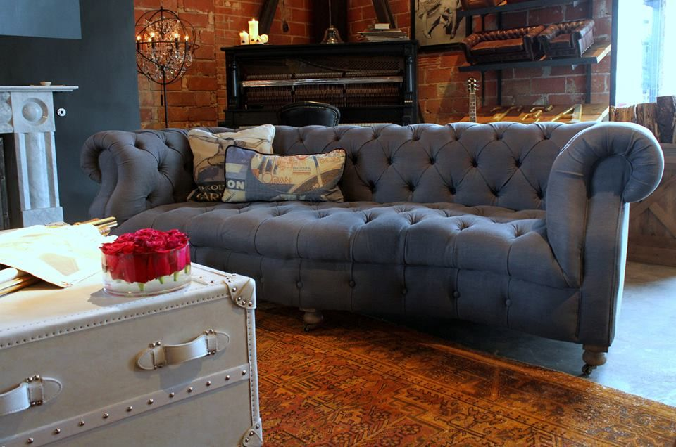 Bensington Serpentine Sofa From Timothy Oulton Pictured Here In Graphite Scrubbed Linen Available At Luxe Hom Timeless Furniture Furniture Campaign Furniture