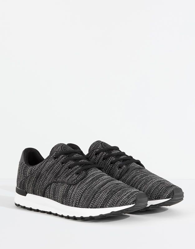 7541bc5361 JERSEY KNIT SNEAKERS - MEN'S SHOES - MAN - PULL&BEAR Hungary ...