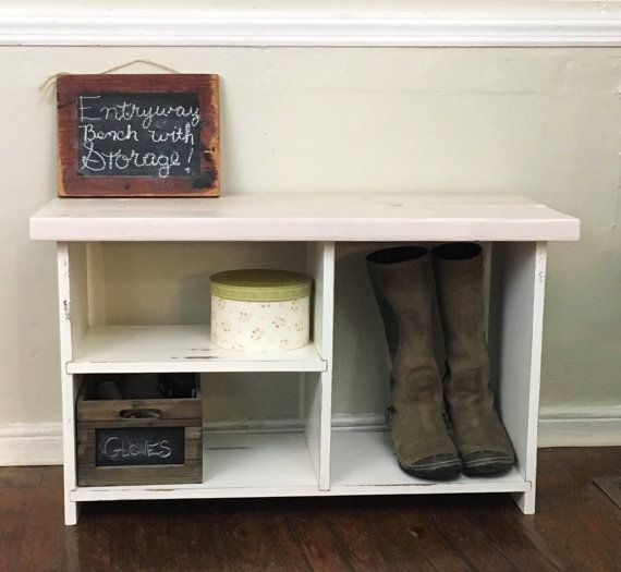 Check Out Rustic Entryway Bench Solid Wood Entryway Bench Shoe