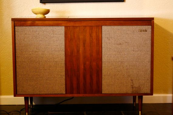 Mid Century Modern Fisher Stereo Cabinet Or Side Table // WORKING CONDITION  // Teak
