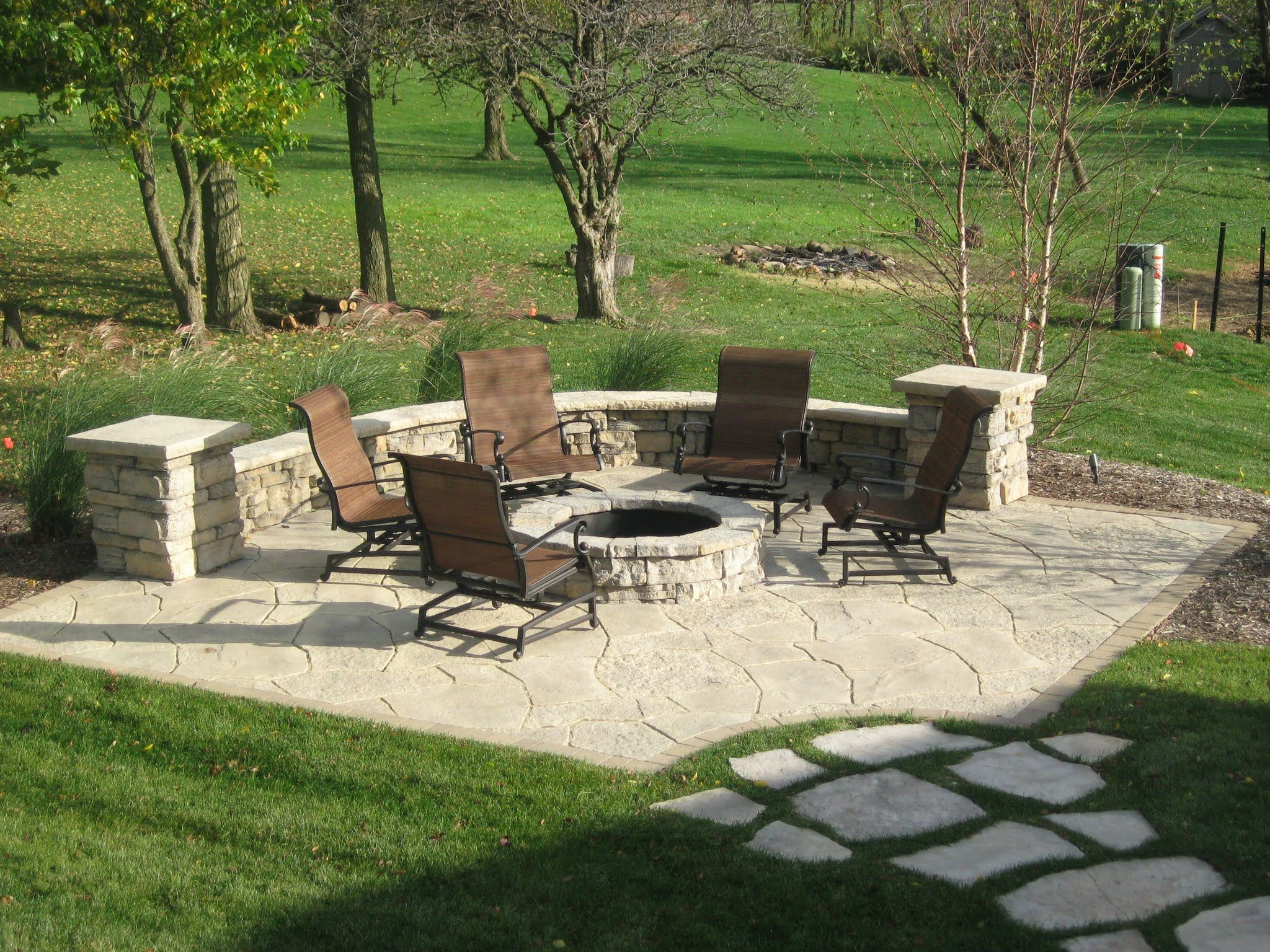 Landscaping Inspiration And Ideas Fire Pit Kit Pavers Steps Photo Gallery