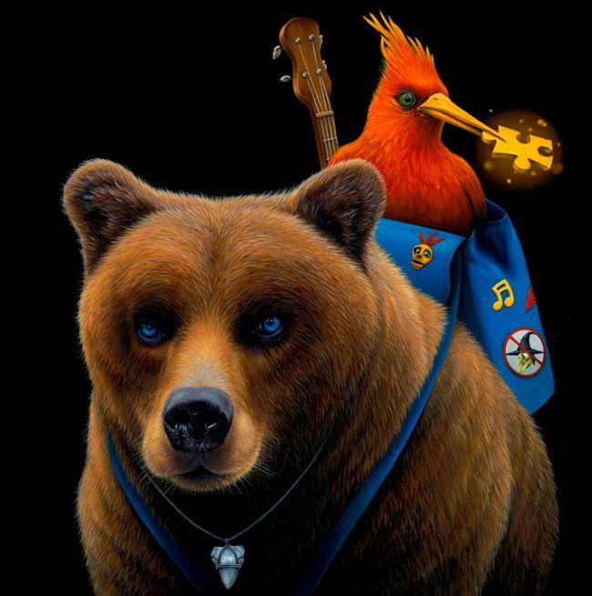 Jacub Gagnon A Rare Score Banjo Kazooie Vinyl Soundtrack Cover Art Banjo Album Art Animal Illustration Art