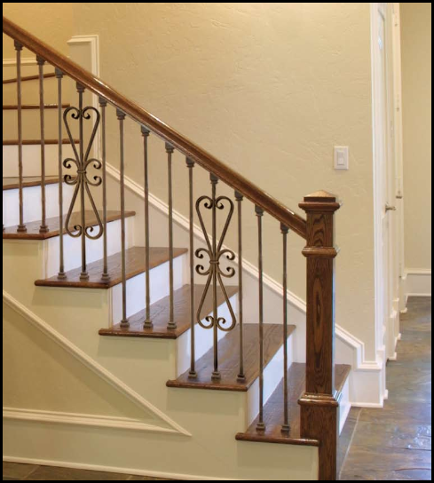 Best Stair Parts Wrought Iron Series Stair Railing Design 400 x 300