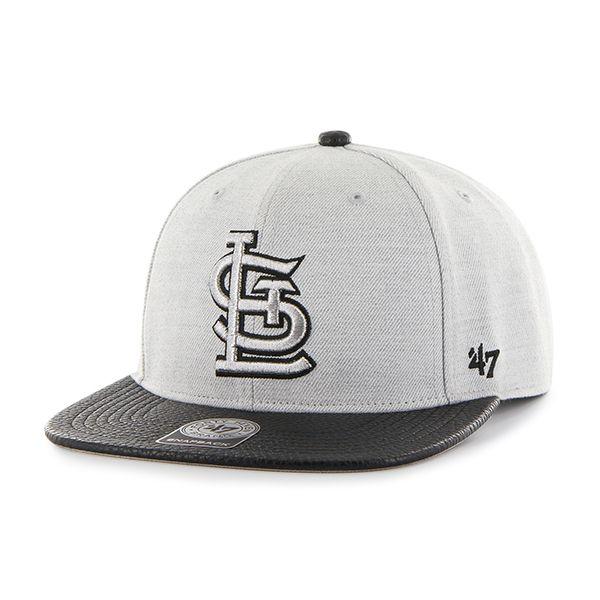 3c4d35d9 St. Louis Cardinals Riverside Captain Gray 47 Brand YOUTH Hat | St ...