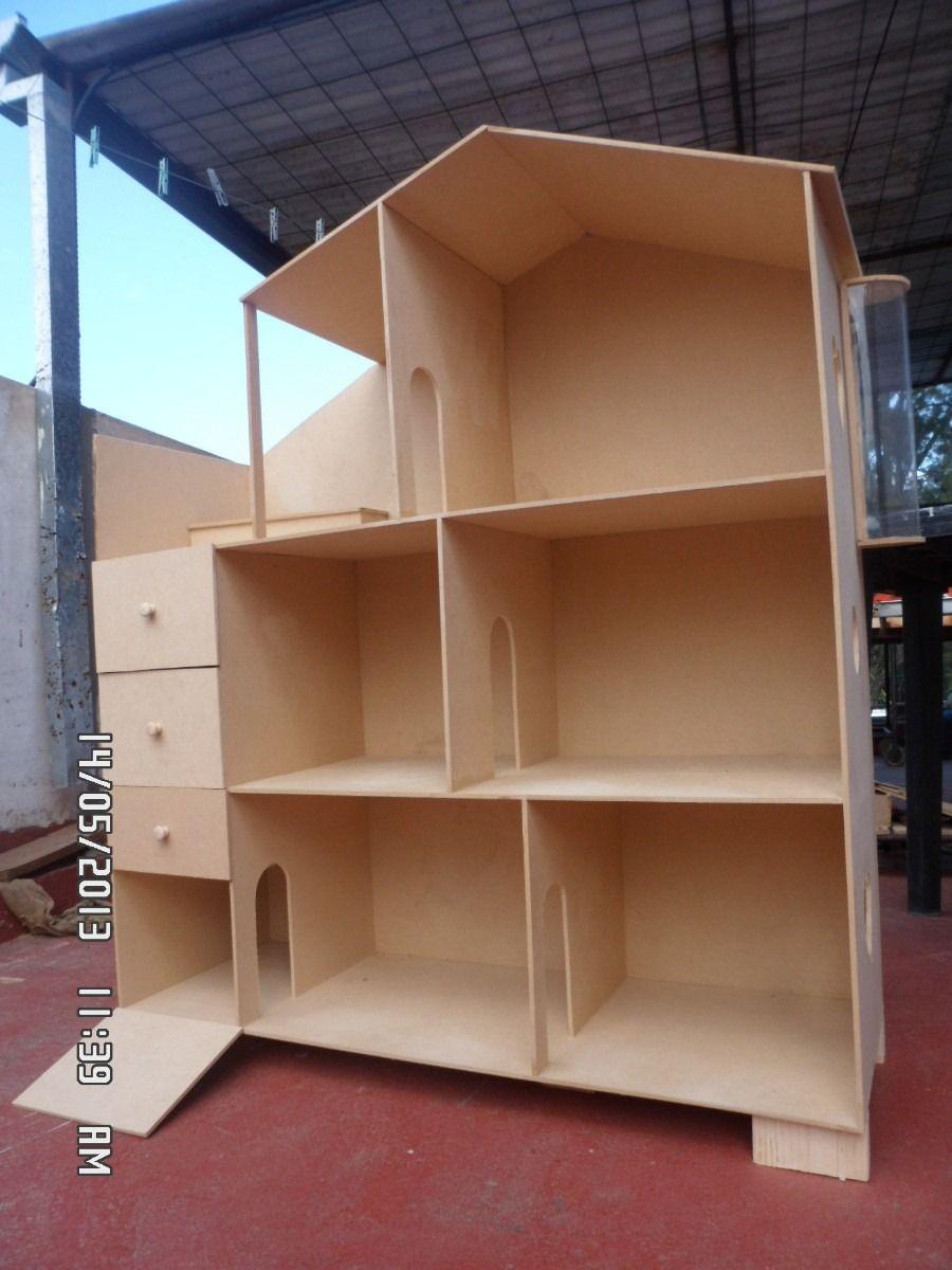 Casita de mu ecas de madera buscar con google nois - Casas miniaturas para construir ...