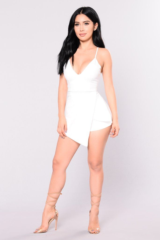 4d7e61268a Adele Envelope Romper - White | Projects to try | Rompers, White ...
